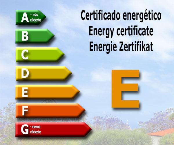 Energy certificate: E
