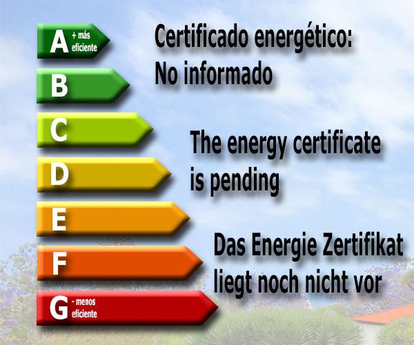Certificado energético No informado