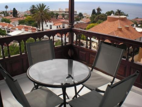 Sehr gut situiertes Studio im La Paz mit  Blick auf Meer und Teide.