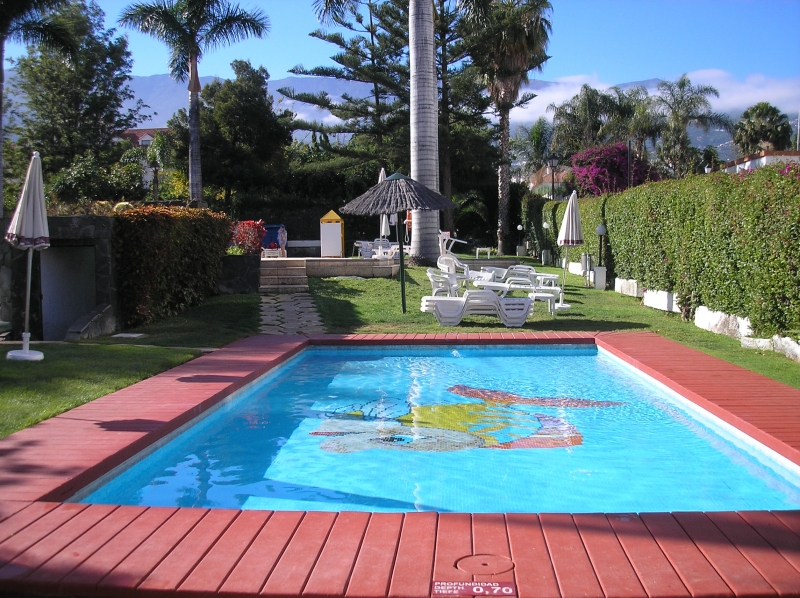 La paz; Schönes Studio in einem Komplex mit Swimmingpool und Garten